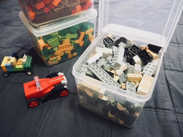 蓋が立つボックス レゴ収納