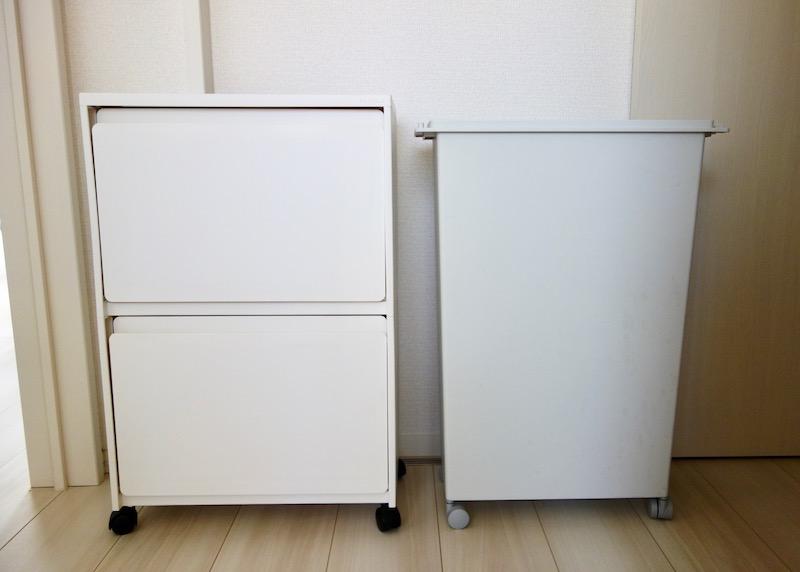 ケユカゴミ箱と無印良品ゴミ箱