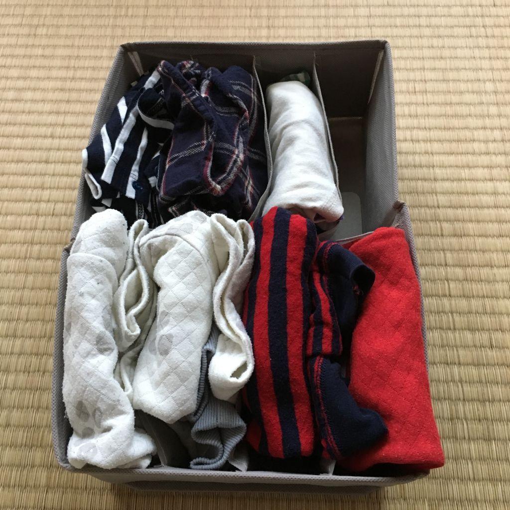 子供服の収納にニトリのボックス