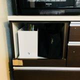 図書館で借りた本の置き場所に。無印良品のファイルボックスにちょい置き管理
