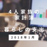 今年も100万円以上ためる予定。4人家族・2018年1月の家計簿(支出)の記録