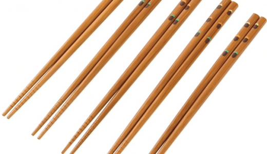 ニトリのお箸を夫婦兼用で使う。柄を揃えて兼用にすれば、どれを取ってもペアになる。